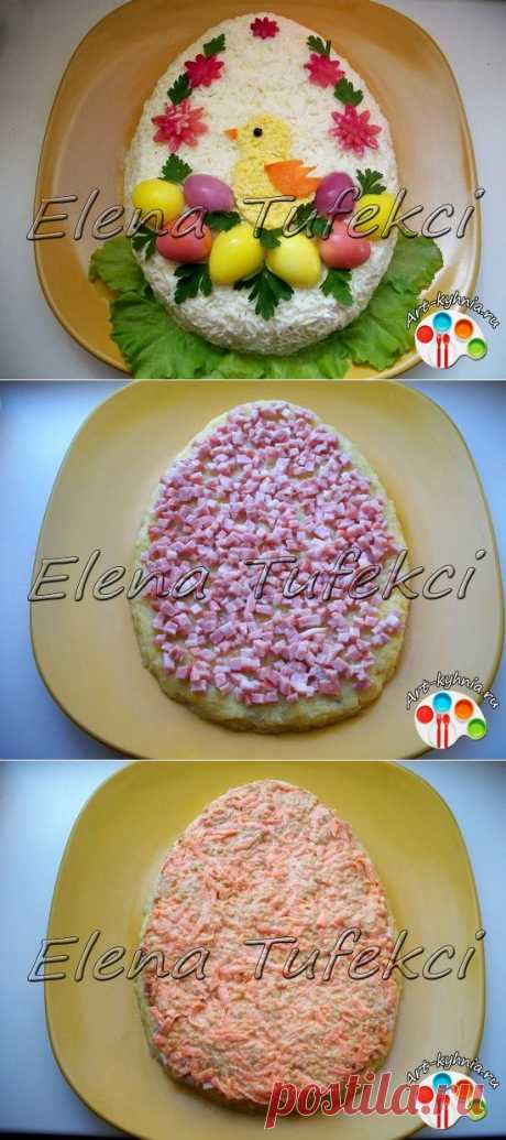 """Салат """"Пасхальный цыпленок"""" (МК от Елены) » Арт-кухня"""