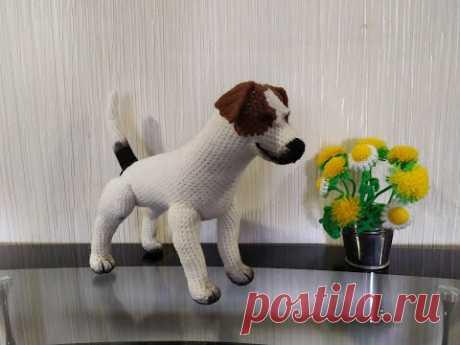 Собака Джек-рассел, ч.3. Dog Jack Russell, р.3. Amigurumi. Crochet. Вязать игрушки, амигуруми.