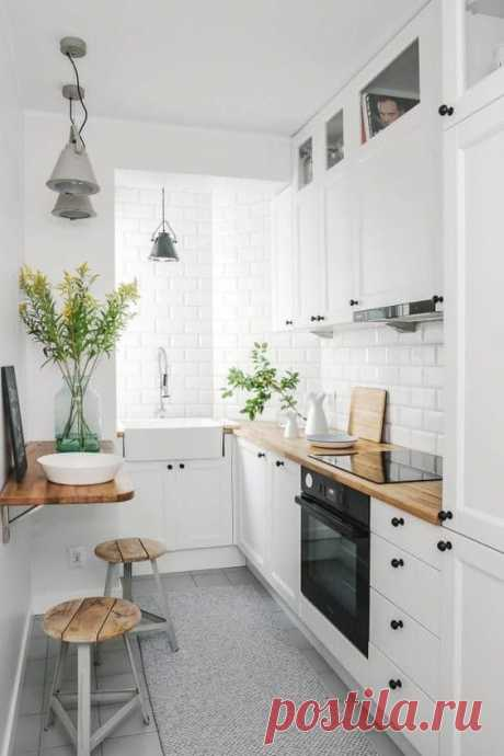 10 практичных приемов для обустройства маленькой кухни