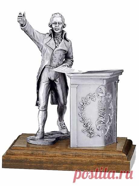 Купить подарок юристу оловянная статуэтка революционер Робеспьер | Интернет-магазин подарков Ларец