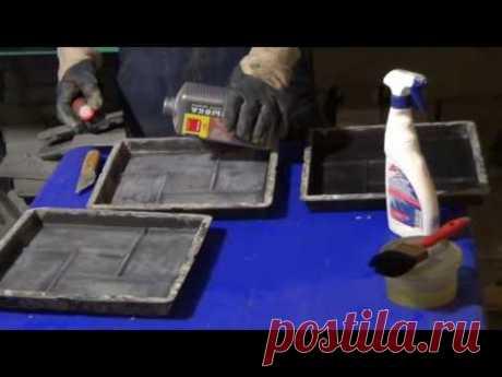 El secreto de la preparación de las formas para trotuarnoy las baldosas