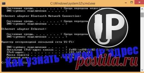 Как узнать чужой IP адрес в интернете   Инфомонстр