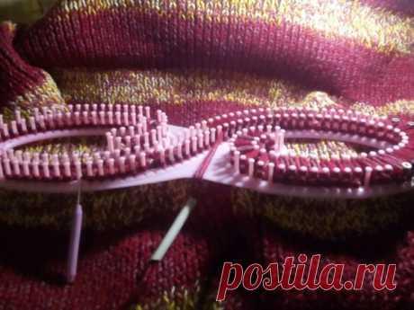 Вязание на луме. Большое одеяло. | Журнал Ярмарки Мастеров