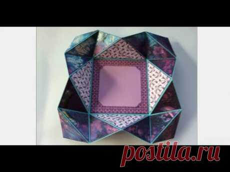 Tutorial: How to create an origami fold card / mini album page ornament