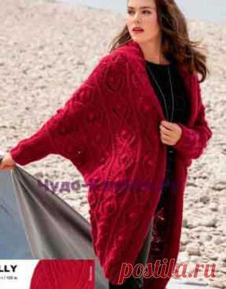 Красно-рубиновое вязаное пальто 101 | ✺❁сайт ЧУДО-клубок ❣ ❂✺Красно-рубиновое пальто 101схемы и описания: ❂ ►►➤6 000 ✿моделей вязания ❣❣❣ 70 000 узоров►►Заходите❣❣ %