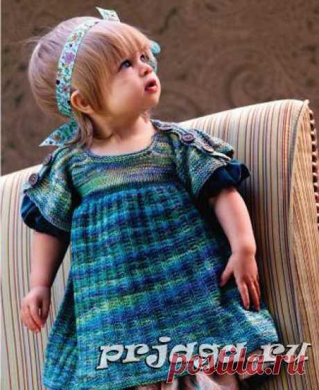 Вязание для девочек платья спицами от Susan Borovsky