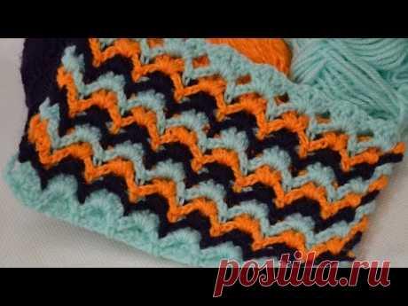 Узор крючком барджелло полотно. Bargello crochet