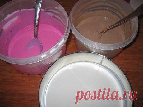 Как приготовить полосатый творожный десерт - рецепт, ингредиенты и фотографии