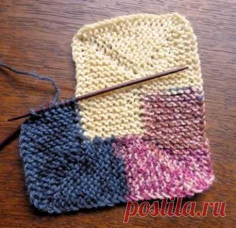 "This is a 10 stitch Blanket which spirals till... / Рукоделие / в""язання спицями / Pinme.ru"