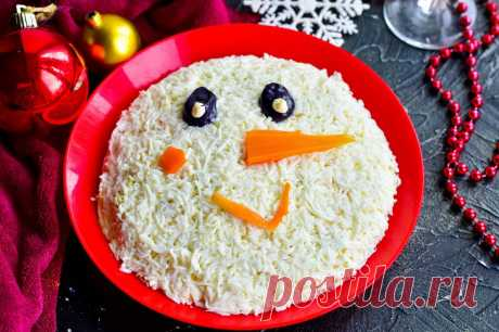 Салат «Снеговик» — Sloosh – кулинарные рецепты