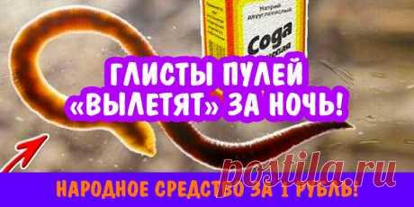 Глисты пулей «вылетят» за ночь! Народное средство за 1 рубль!   Полезные советы