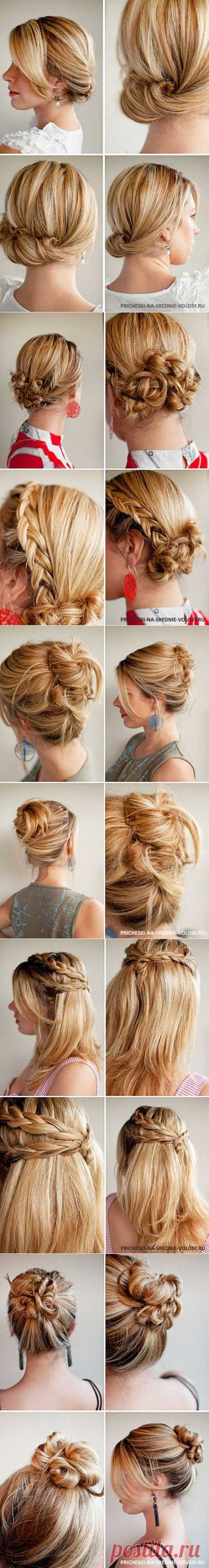 Daily hairdresses for average hair. 18 daily hairdresses