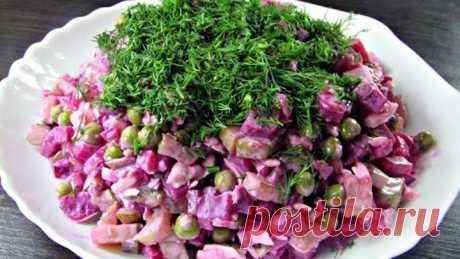 Свекольный салат нарасхват! Будете готовить не раз!