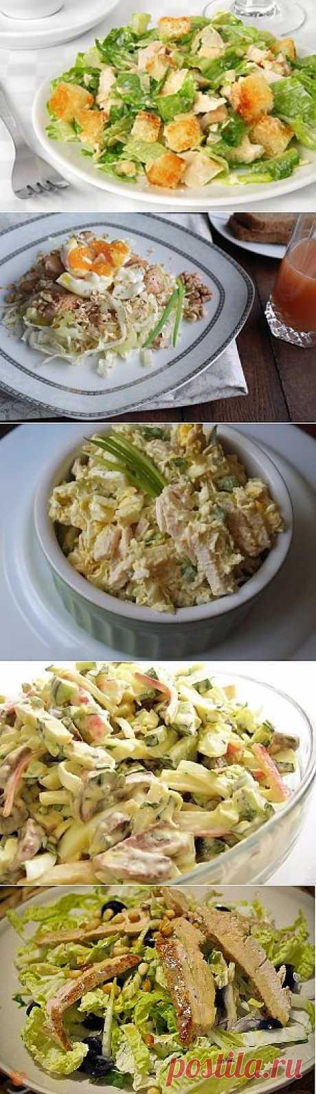 Салаты из пекинской капусты - 5 рецептов с фото.