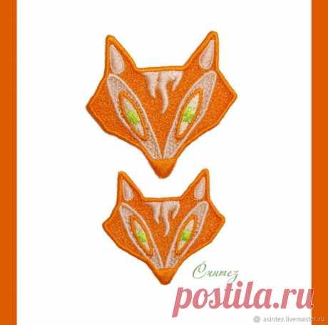 Аппликация патч нашивка вышивка Портрет лисы – купить в интернет-магазине на Ярмарке Мастеров с доставкой - FME6PRU   Москва
