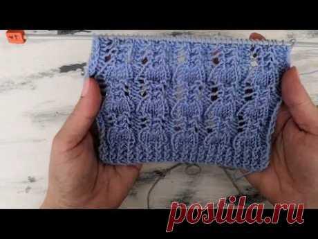 Ажурный узор спицами для вязания свитера, кардигана, джемпера, майки, пуловера