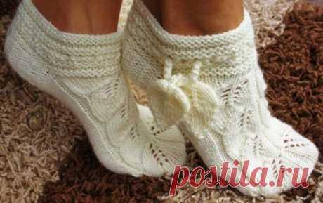 Шикарные носочки-тапочки своими руками | One of Lady - Журнал для женщин