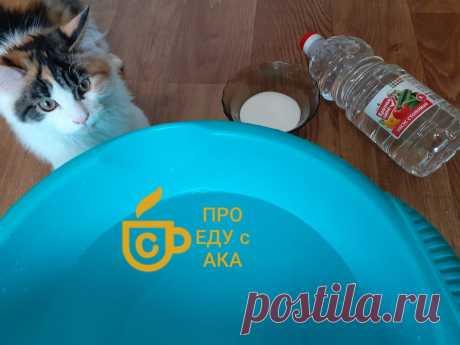 """Теперь """"солю"""" полы на кухне по совету подруги- довольна даже кошка(рассказываю для чего).   ПРО ЕДУ С АКА   Яндекс Дзен"""
