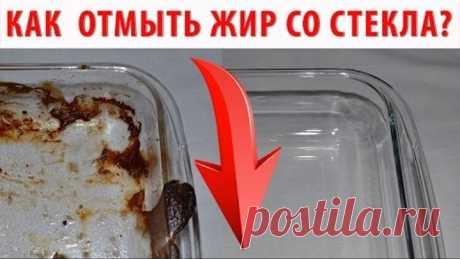 КАК ОТМЫТЬ ОТ ЖИРА стеклянную посуду, стекло на дверцах духовки, микроволновки? Чем очистить жир?