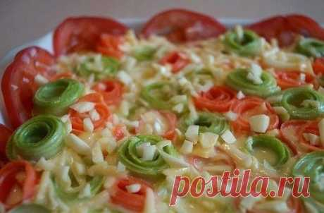Как приготовить красивая овощная запеканка - рецепт, ингредиенты и фотографии