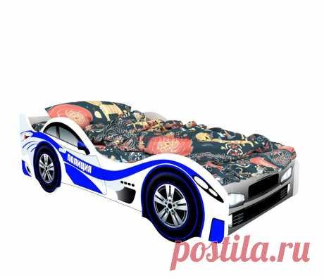 Кровать-машинка Классик Полиция: купить в Минске недорого, низкие цены, скидки, рассрочка