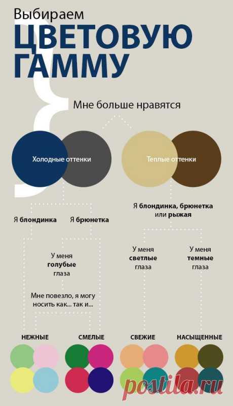 Инфографика - выбор цветовой гаммы