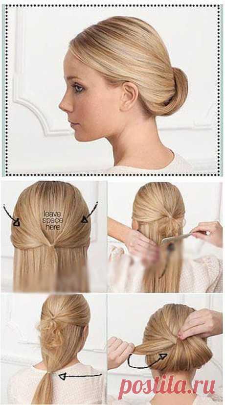 Прически на каждый день для волос средней длины.