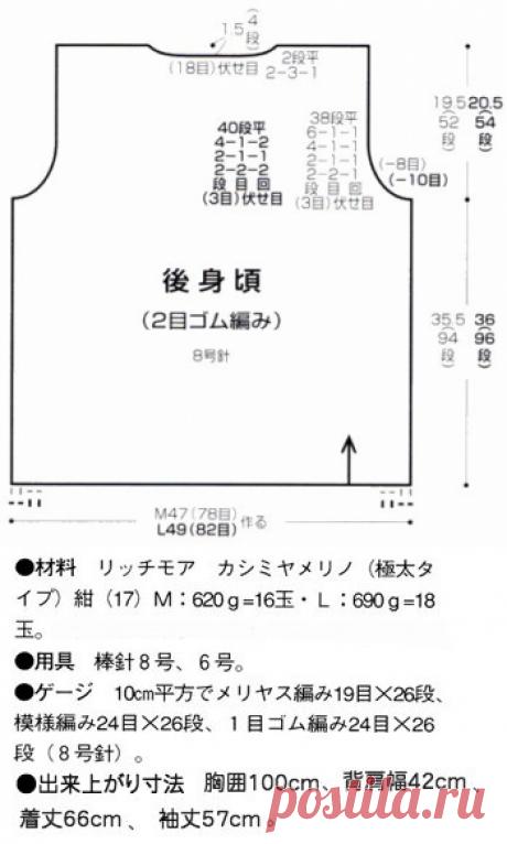 Читаем японские схемы вязания - Страна Мам