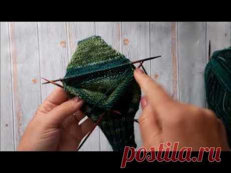 Носочки спицами из пряжи Nako Boho / Мой любимый способ