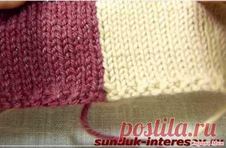 Трикотажный шов. Сшивание вязаных деталей крючком без дополнительной нити - Вязание - Страна Мам