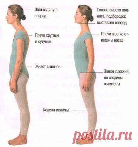 Правильная осанка: как её поддерживать?   Одна из основных причин нарушений осанки - малая физическая активность, недостаточная нагрузка на мышцы, особенно спинные.   Упражнения, корректирующие тонус мышц спины:   - Лечь в позу «на спине», раскинуть руки в стороны ладонями вниз, ноги согнуть в коленях, поставив при этом пятки как можно ближе к туловищу. На вдохе выгнуть грудную клетку вверх. Следить за тем, чтобы нижняя часть туловища, голова и руки не отрывались от ...