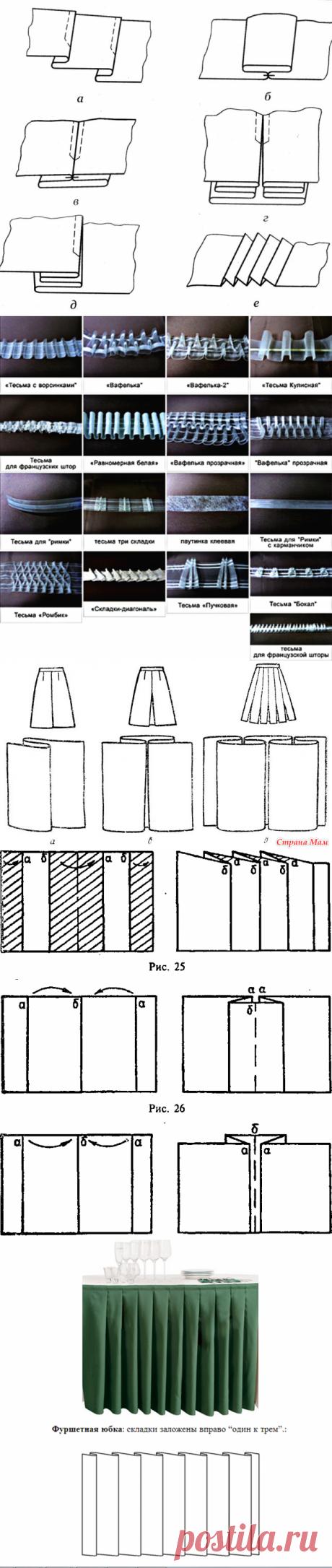 Как правильно формировать складки — Сделай сам, идеи для творчества - DIY Ideas