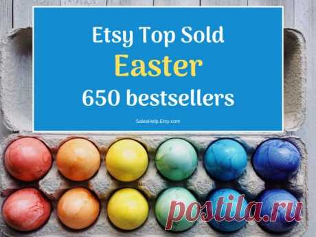 Etsy Top Sold Easter Items, Easter Bestsellers 2020 Etsy Trends, Most Popular Now, Top Selling Items List, Best Selling Etsy, What to Sell This is Etsy Top Sold Items for Easter. Bestsellers are grouped by Etsy Products Categories.  Each bestseller has its NAME (title), Etsy link, shop country and shop establish year.  There are over 650 Bestsellers in this List.  Fabruary 29, 2020 update.  You will receive digital PDF file: 25 pages,