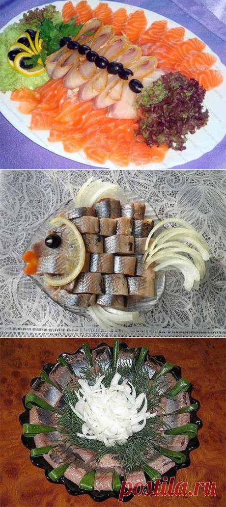 Красивое оформление рыбных нарезок