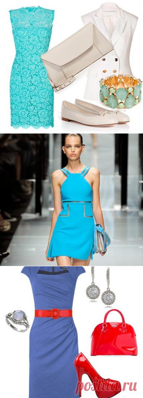 Как и с чем носить голубое платье / Все для женщины