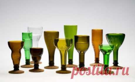 Как разрезать стеклянную бутылку и что из нее сделать? 10 идей для дома и сада - разнообразные поделки из стеклянных бутылок, от стакана до целого дома!