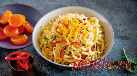 На обед: яичная лапша с чили и соленым желтком — Готовим дома