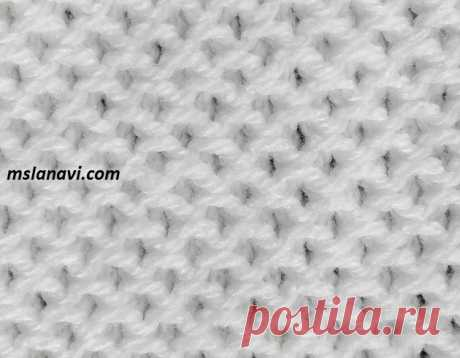 Рельефный узор спицами | Вяжем с Лана Ви