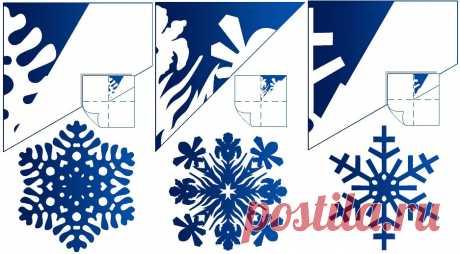 Как вырезать снежинку на Новый год. Поэтапная инструкция.
