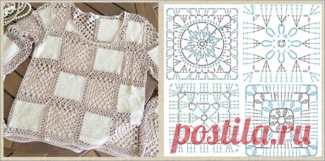 Вязание с тканью - все дело в квадратиках | МНЕ ИНТЕРЕСНО | Яндекс Дзен