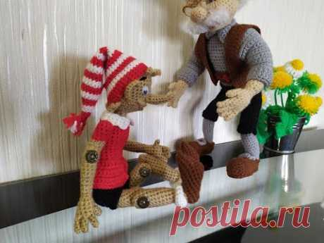 Буратино, ч.4. Pinocchio, р.4. Amigurumi. Crochet. Вязать игрушки, амигуруми.
