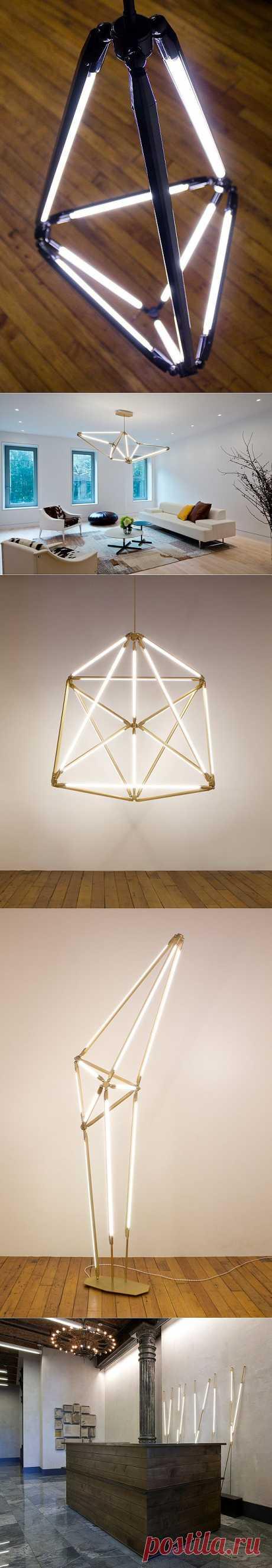 Светильники в форме геометрических фигур. - Мир отделки и ремонта