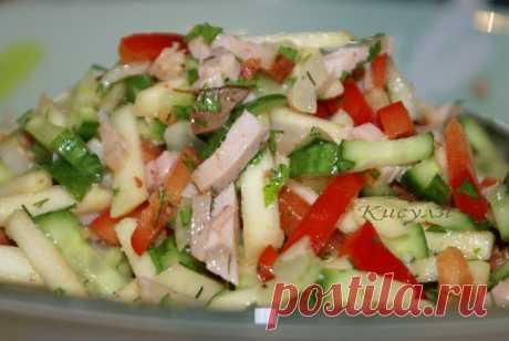 Салатики мясные