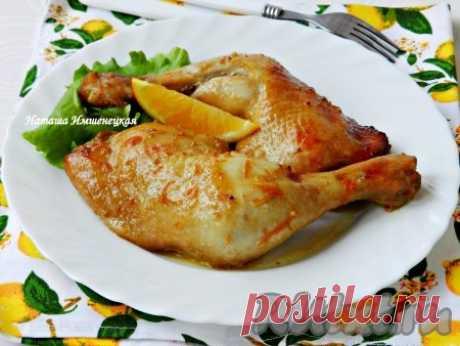 Куриные окорочка, запеченные в духовке - 7 пошаговых фото в рецепте