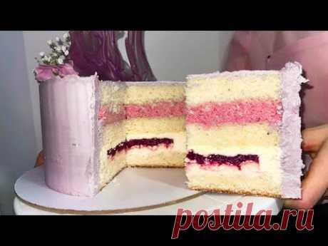 НЕЖНЕЙШИЙ ТОРТ. Рецепт пышного бисквита и нежной начинки торта. Торт на день рождения моей бабушке.