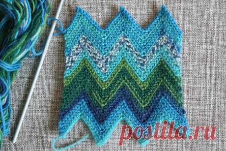 Зиг-заг платочной вязкой крючком - Тамбурное вязание - Страна Мам