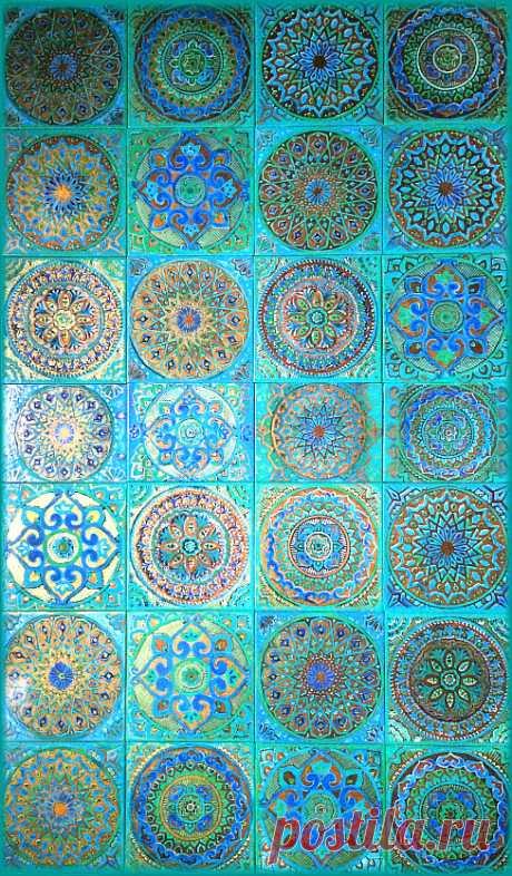 голубая плитка, бирюзовая плитка, марокканская плитка голубая плитка ручной работы, восточная плитка, восточная плитка керамическая, плитка ручной работы, керамическая плитка ручной работы