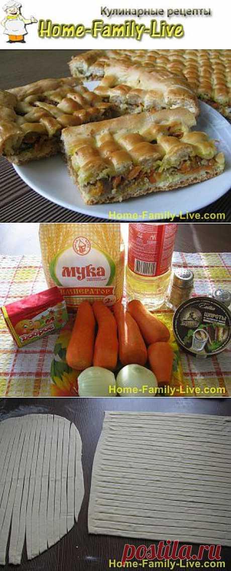 Пирог с морковкой и рыбой -home-family-live.com-рецепты с фото | Кулинарные рецепты