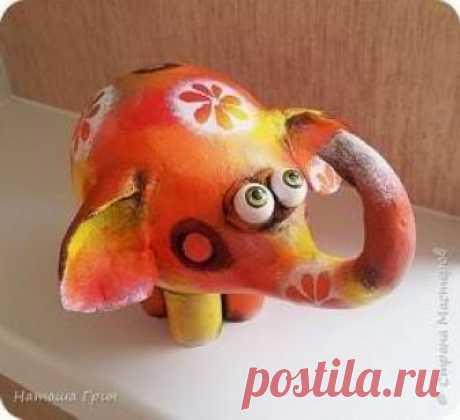 Мастер-класс по папье-маше: Интерьерный слоник