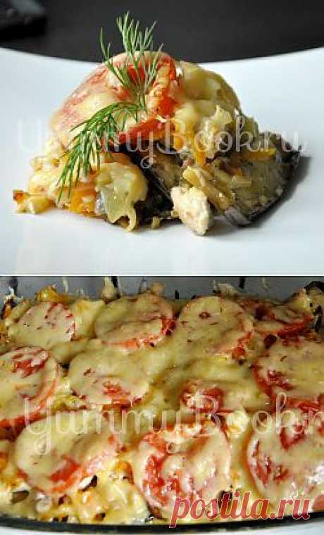 Vegetable baked pudding with eggplants - the step-by-step recipe with a photo